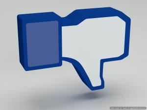 Social media facebook dis-like