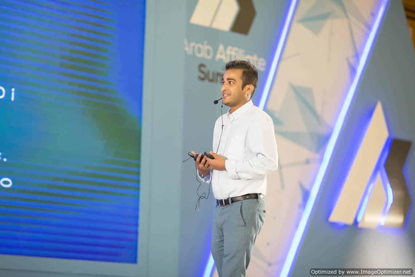 Kj Rocker Speaking at arab affiliate summit 2017
